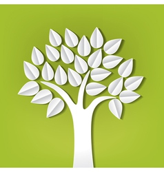 paper trees vector image vector image