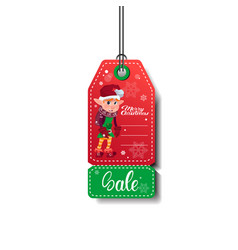 sale tag christmas and new year shopping isolated vector image
