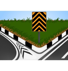 Turn left vector image vector image