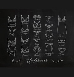 underwear classic icons chalk vector image