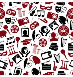 culture and art theme black and red simple icons vector image