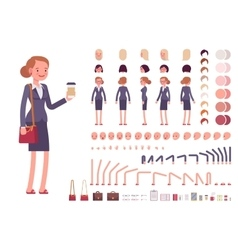 Businesswoman character creation set vector