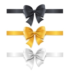 Luxury bows and ribbons set vector