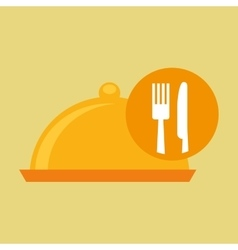 Food serving platter icon design vector