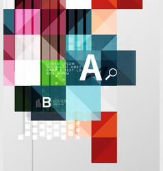 modern geometrical abstract background squares vector image