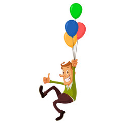 Man with air balloons vector