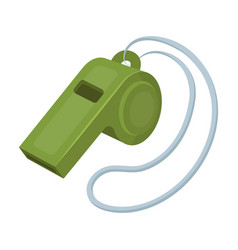 whistle football fanfans single icon in cartoon vector image