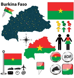 Burkina faso map vector