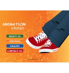 animation studio vector image
