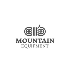 Mountain equipment badge outdoors logo emblem vector