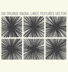 6 grunge radial lines textures vector