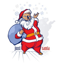 Cartoon funny santa vector