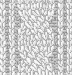 Seamless six-stitch cable stitch vector