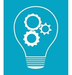 Idea design light bulb icon flat vector