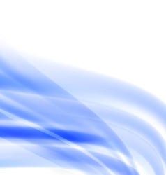 Abstract beautiful blue line background vector image vector image