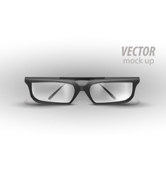 Black Eye Glasses Isolated on White vector image