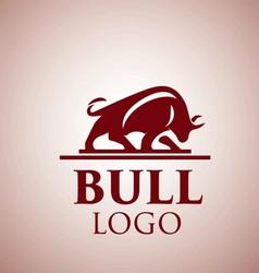 bull logo 4 vector image vector image