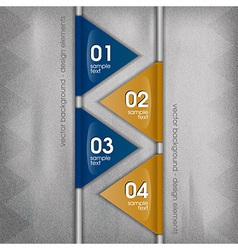 business triangles blue yellow II with text vector image