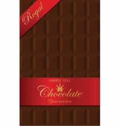 Chocolate packaging vector