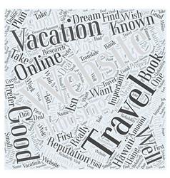 Choosing an online travel website to book your vector