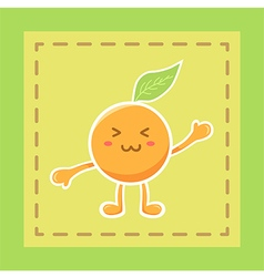 Cute Orange Fruit Mascot vector image vector image