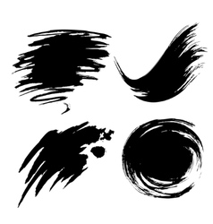 different set of ink blot vector image
