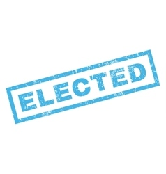 Elected rubber stamp vector