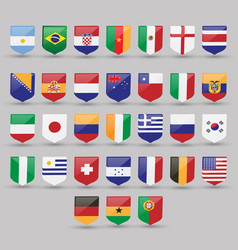 flags world set national symbol international vector image vector image