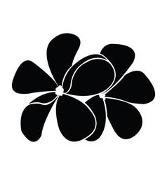 Frangipani silhouettes for design vector