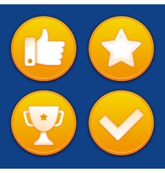 golden gamification badges vector image vector image