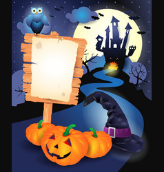 halloween background with sign vector image