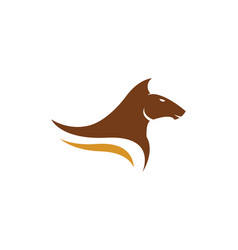 Horse logo template design vector