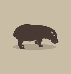 Image of an hippopotamus vector