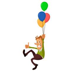 Man with air balloons vector