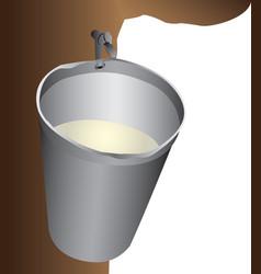 Maple water bucket vector