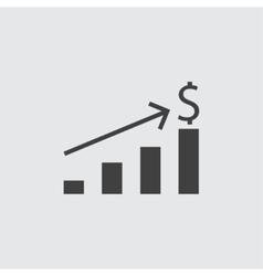 Money increase icon vector image