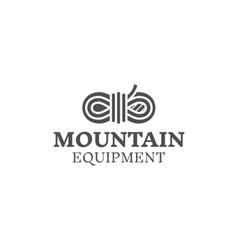 Mountain equipment badge outdoors logo emblem vector