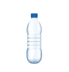 plastic water bottle on white background vector image vector image