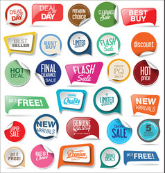 sale stickers and tags collection 3 vector image