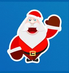 santa claus sticker vector image vector image