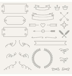 Set geometric elements info graphic labels vector