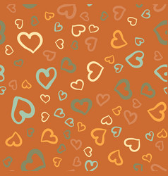 simply hearts seamless tile valentines day vector image