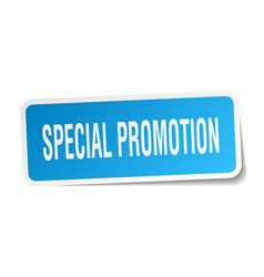 Special promotion square sticker on white vector