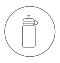 Sport water bottle line icon vector
