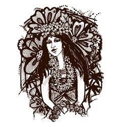 Tahitian girl vector