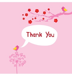 Thank card vector