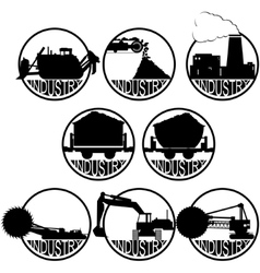The coal-mining industry-1 vector