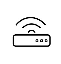 wifi router icon vector image vector image