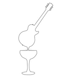 Wine guitar vector