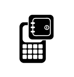 Cellphone app service isolated icon vector